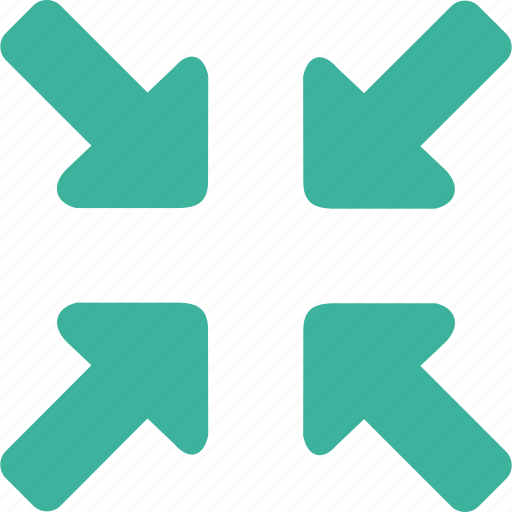 arrow, control, media, minimize, reduce, reduction icon
