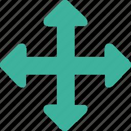arrow, control, cursor, drag, move icon