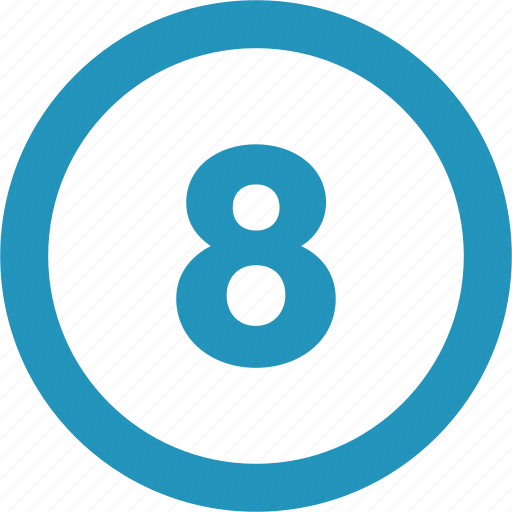eight, round icon