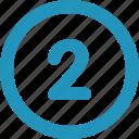 round, two icon