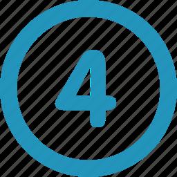 four, round icon