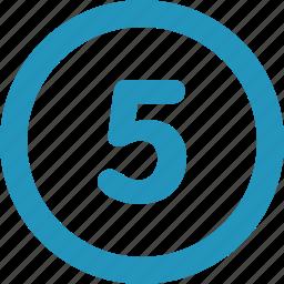 five, round icon