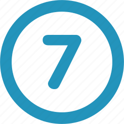 round, seven icon