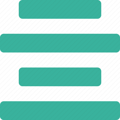 align, alignment, center, text icon