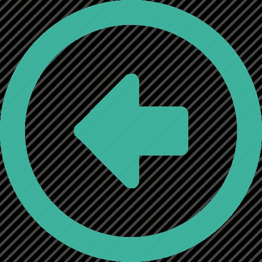 arrow, back, left, round, west icon