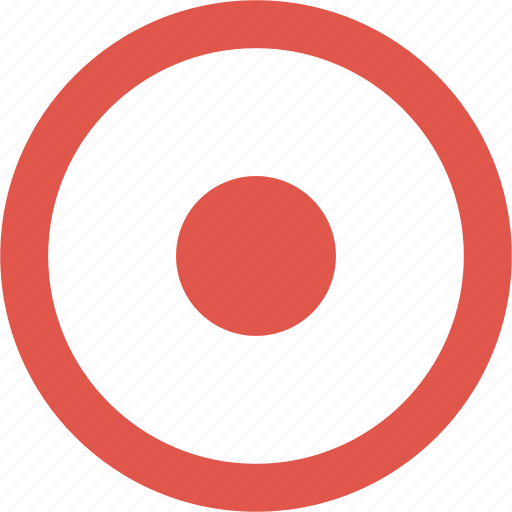bullseye, circles, dot, media, record, round icon