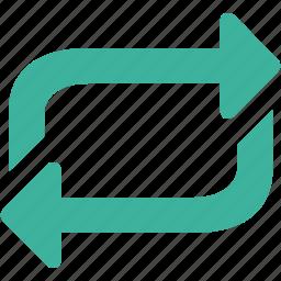control, loop, media, refresh, reload, repeat icon