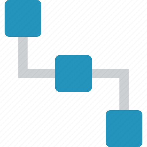 connection, hierarchy, map, menu, network, relations, sitemap icon
