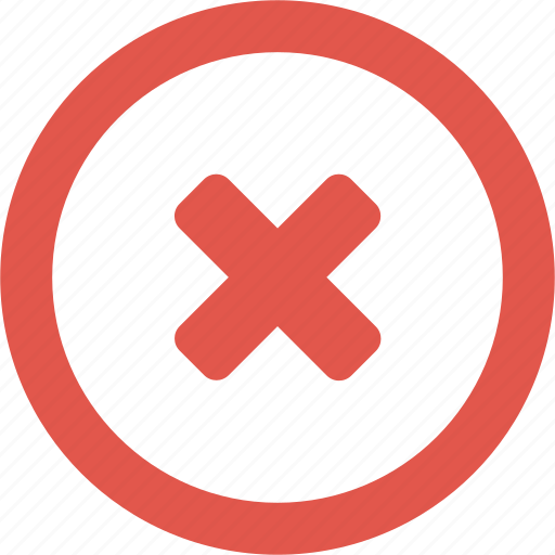 X Icon Png Close, denied, round, ...