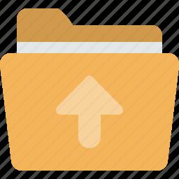 arrow, documents, folder, upload icon
