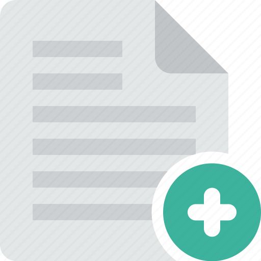 add, document, file, new, page, paper, plus, sheet, text icon