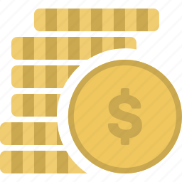 bank, banking, coin, coins, economy, finance, money, stack icon