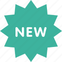 green, label, new, sticker icon