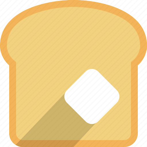 bread, butter, cooking, eating, food, toast, toaster icon