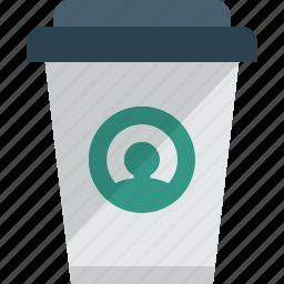 cappuchino, coffee, cup, espresso, hot drink, paper, starbucks icon