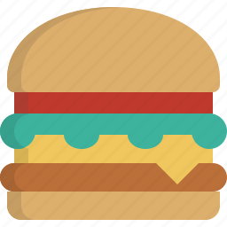 burger, fast, food, hamburger icon