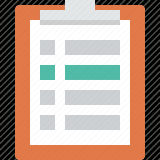 checkmark, clipboard, report, task icon