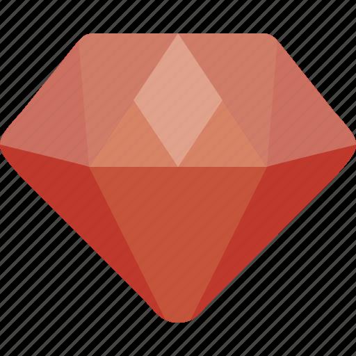 diamond, jewelry icon