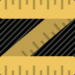 grid, inch, mesure, mesurments, meter, rulet icon