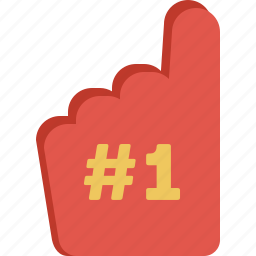 fan, glove icon