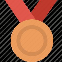 award, challenge, medal, prize, rank, silver icon
