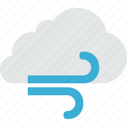 cloud, clouds, cloudy, sun, weather, wind icon