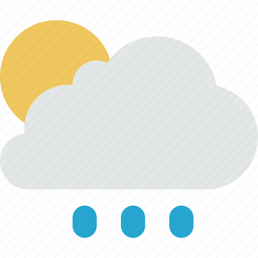 cloud, clouds, rain, sun, weather icon