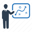 business plan, businessman, planning, solution, strategy icon