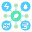 eco, energy, internet, renewable, system icon