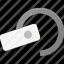earphone, handsfree, headset, microphone icon