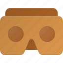 cardboard, glases, google, reality, virtual, vr icon