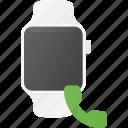 call, concept, smart, smartwatch, technology, watch