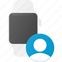 concept, contact, smart, smartwatch, technology, watch icon