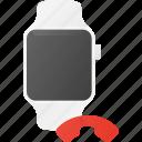 call, concept, end, smart, smartwatch, technology, watch