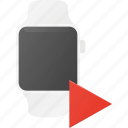 concept, play, smart, smartwatch, technology, watch icon