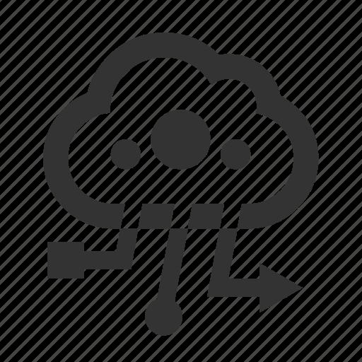 cloud, cloud computing, computing, data icon