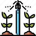 agriculture, farming, irrigation, plants, smart farm, sprinkler, water icon