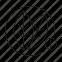 agriculture, agronomy, alert, leaf, sensor, smart, smart farming icon