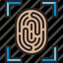 fingerprint, verification, scan, identity, detective, biometric, touch