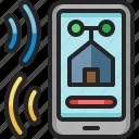 mobile, phone, responsive, domotics, smartphone, setting, control
