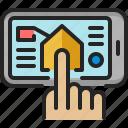 smartphone, click, touch, domotics, ui, app, forefinger