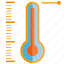 heat, temperature, temperature measurer, thermometer icon