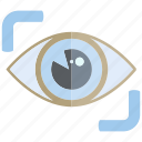 eye, eye scan, iris scan, look, scan icon