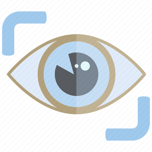 eye, eye scan, iris scan, look, scan icon