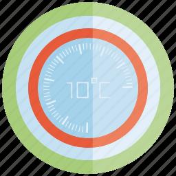 control, gauge, meter, temperature, thermometer icon