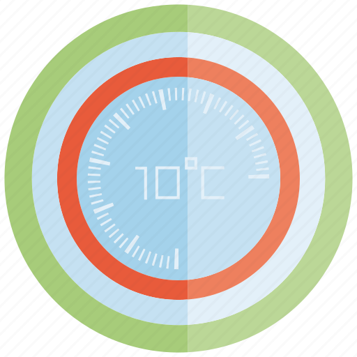 control, gauge, meter, temperature, thermometer icon