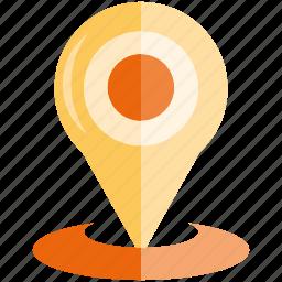 location, map pin, navigation, pin icon