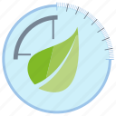 control, ecology, leaf, meter, nature, sensor icon