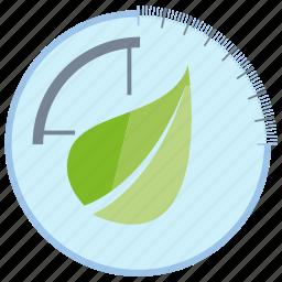 control, ecology, leaf, meter, nature, sensor icon