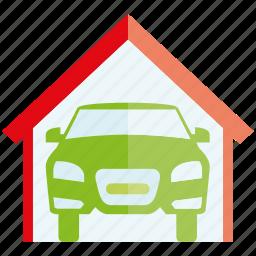 auto, car, garage, roof, vehicle icon